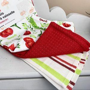 Harman Tomato Print Cotton Tea Towels